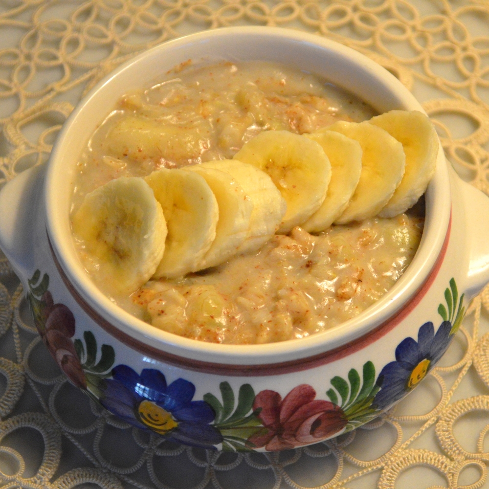 AlmondButter+BananaOatmeal