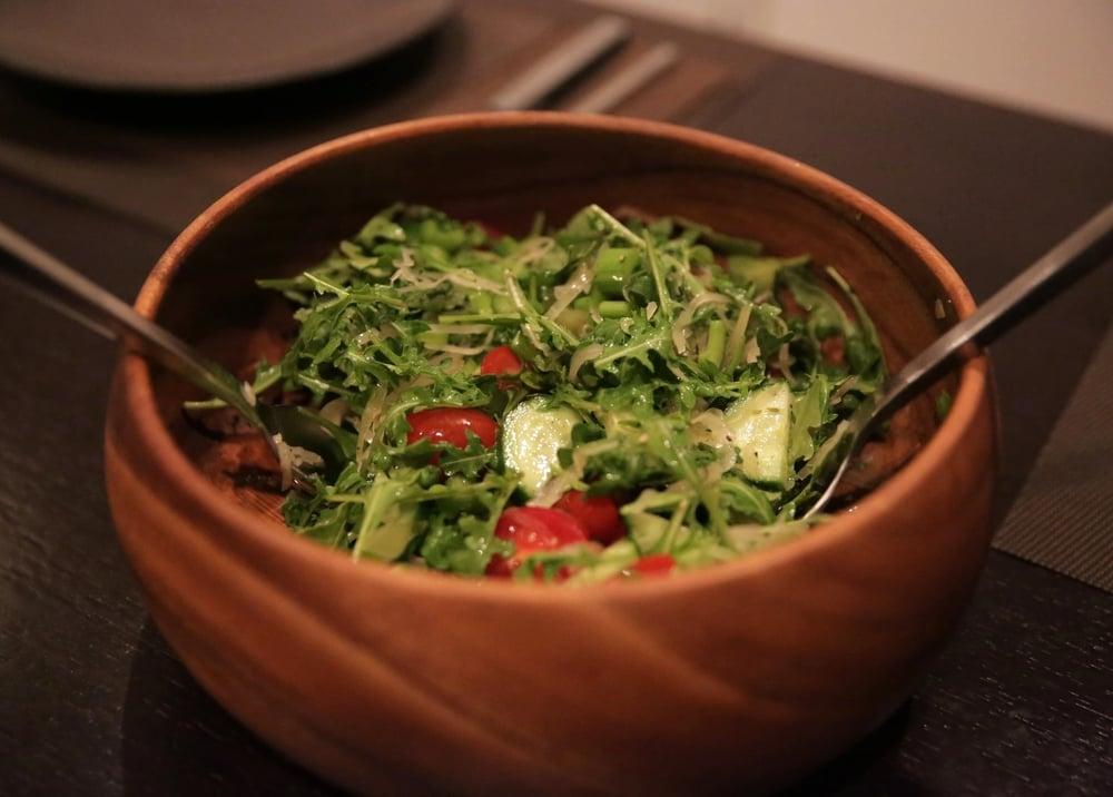 Arugula + Sauerkraut + Cucumbers + Tomatoes
