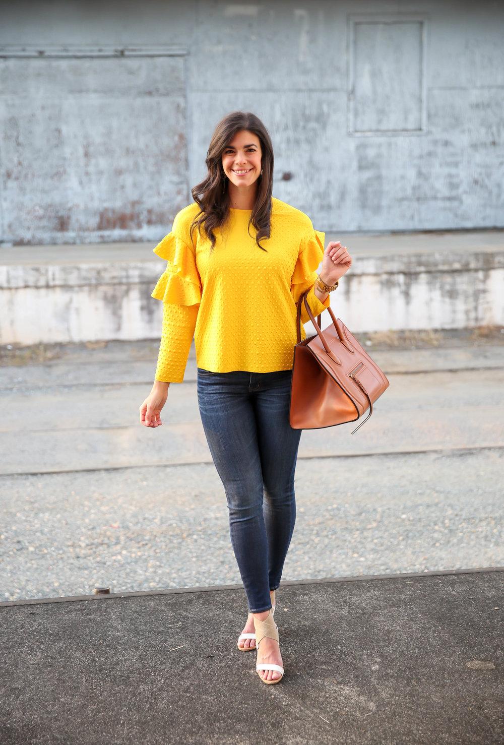 summer-style-ootd-yellow-ruffle-sleeve-blouse.jpg