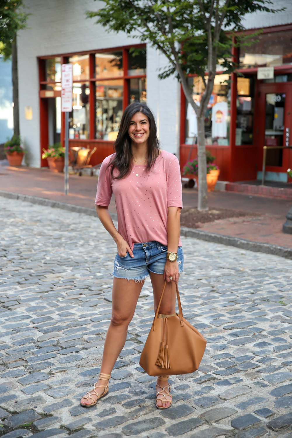 denim-cutoffs-pink-tee-shirt-summer-ootd-lauren-schwaiger-blog.jpg