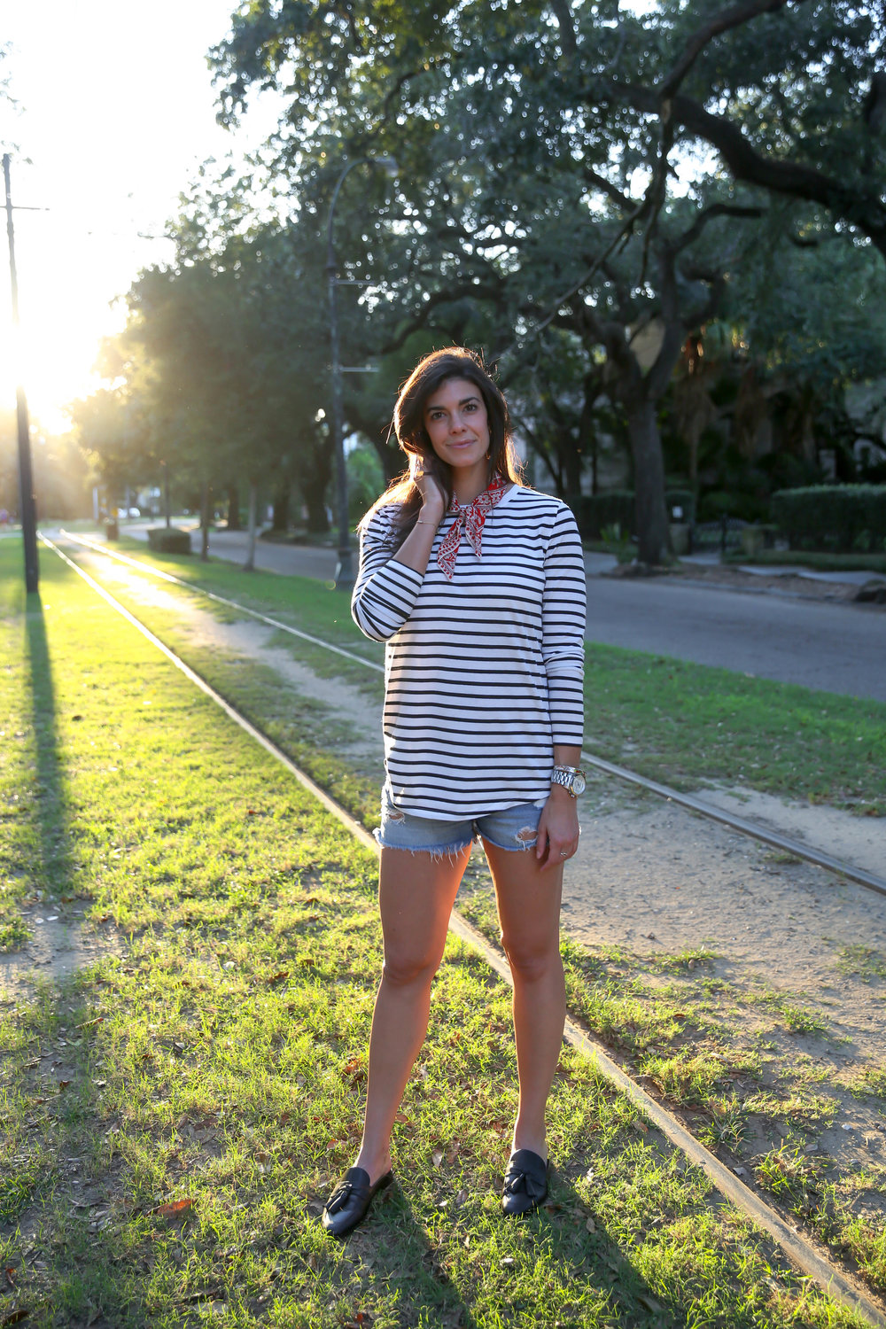 shorts-long-sleeve-stripes-mules-fall-style-lauren-schwaiger.jpg