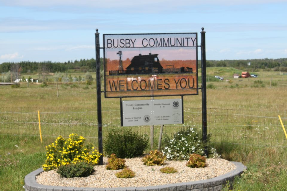 Welcome To the Town of Busby, Alberta