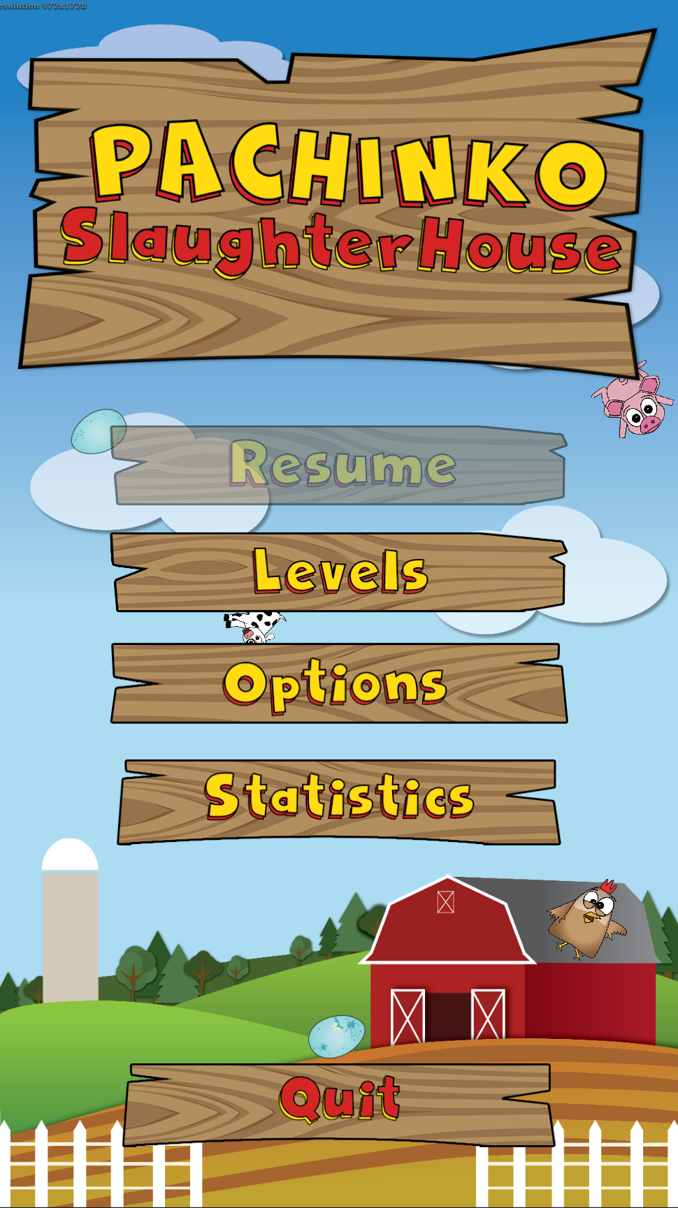 Main Menu Screen