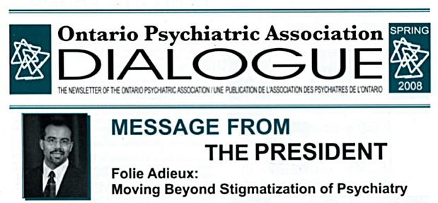 Member communication on Presidential Theme on Institutional Stigma