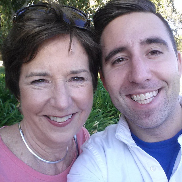 Mother-son precinct walking! Remind everyone to vote or turn in mail ballots tomorrow.
