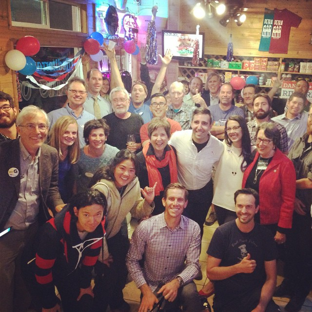 WE DID IT! Thanks so much for voting and coming out to celebrate last night at @petraslo805 with us. #voterivoire
