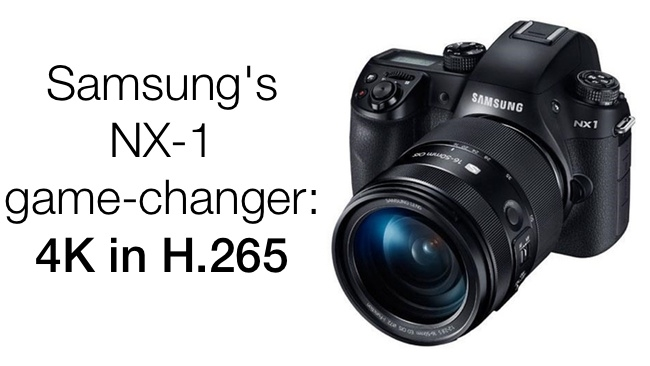 Samsung enter the camera market with a bang. 4k with super 35mm sensor for sub $2000 internally stored on SD cards in the new super efficient H.265 codec. image - redsharknews.com
