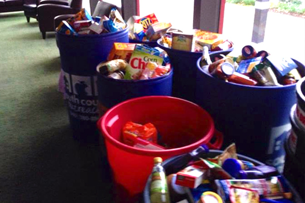 Food drive with South County Outreach