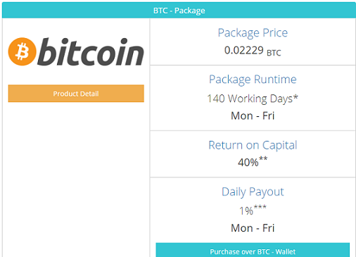 Based on  Bitcoin package prices  20/7/17