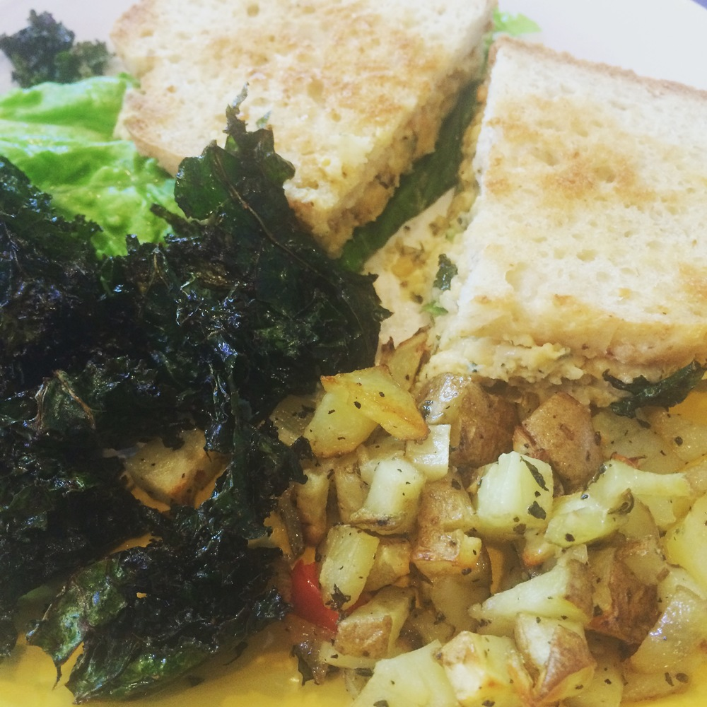 Grilled Vegan Tuna Fish Sandwich