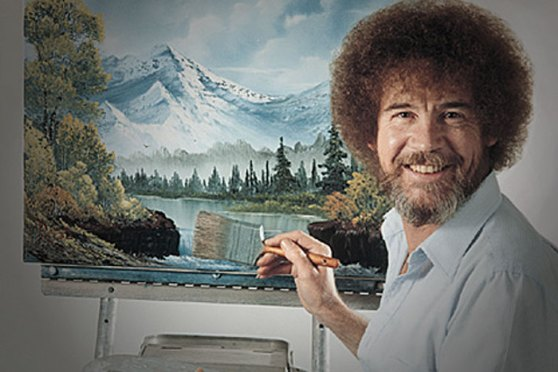 This guy was awesome. Childhood memories of watching him create are still vivid. Happy birthday Bob Ross. RIP