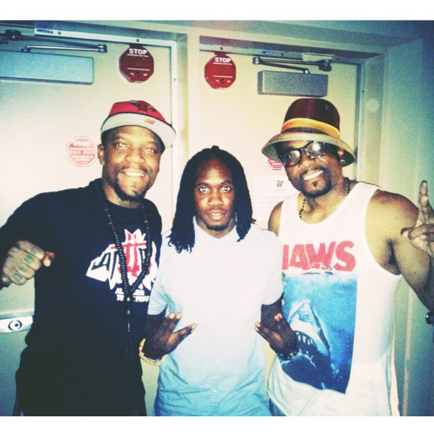 M-1 of dead prez, myself (ADH) and Martin Luther McCoy. 2LV
