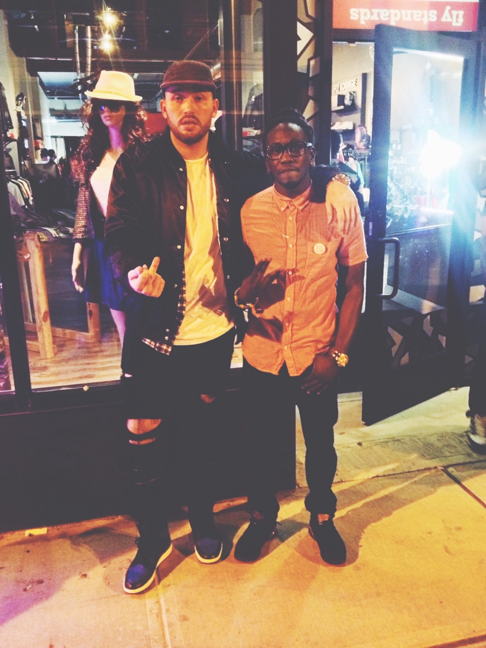 The bro G4shi and I. Very dope artist. Future shit. 2LV