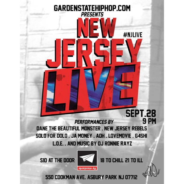Come vibe with me sept 28th at Fly standards in asbury park nj! Myself, Moruf, Ikenna, NJ rebels n many more! Doors open at 9pm. Gonna b dope! 2LV