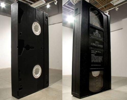 David Herbert (Seattle, WA, USA): VHS, 2005 foam, plexiglass, latex paint, 2×4x8ft  I want this really really bad!