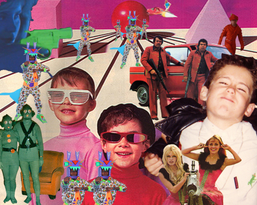 In one of my classes I had to make a collage of my family and childhood. Christine helped me put together this masterpiece. I'm on the right hand side.