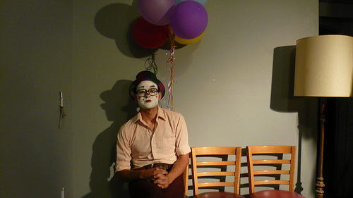 Filmed the second episode of Clowns two nights ago.  More Photos .