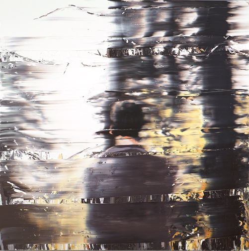 I'm really liking these paintings by  Andy Denzler . There's a glitchy VHS quality to them.