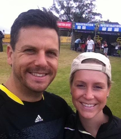 My very supportive husband & I post the race (where he very proudly was awarded a bronze medal!).