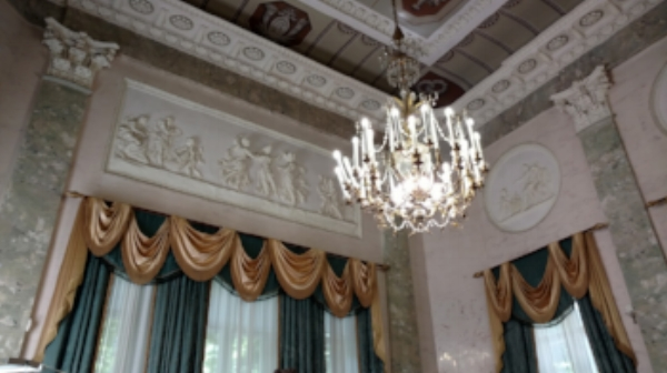 """""""Marble Room,"""" Durasov Estate, Moscow, Russia"""