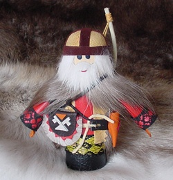 #TX 180002 Reindeer Boy Doll - Made in Russia  Donation $25