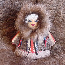 #TX 180003 Reindeer Girl Doll - Made in Russia  Donation $25