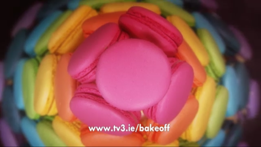 My Macaron Tower in the Great Irish Bake Off Final 2014 '...close to perfect...' according to Paul Kelly, Executive Pastry Chef in the 5 star Merrion Hotel...