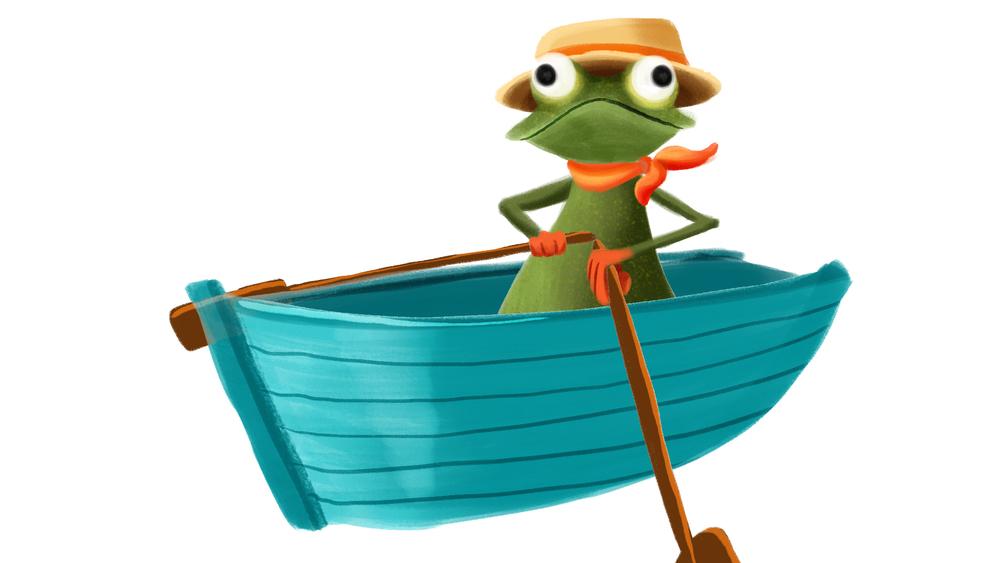 Boating frog