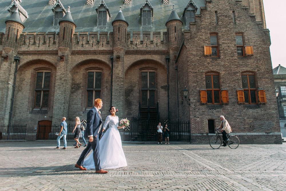 Trouwfotografie Den Haag Binnenhof