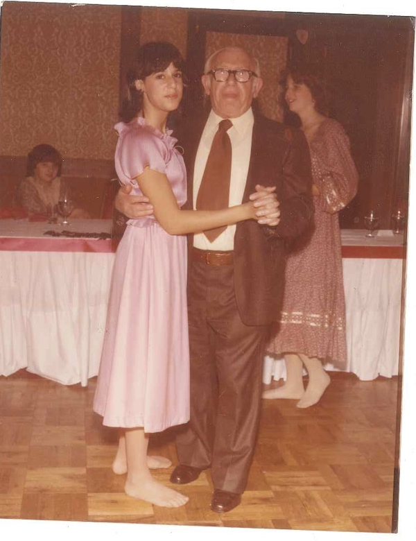 In the barefoot photo, I am dancing with my grandfather, Charles   Wald  .