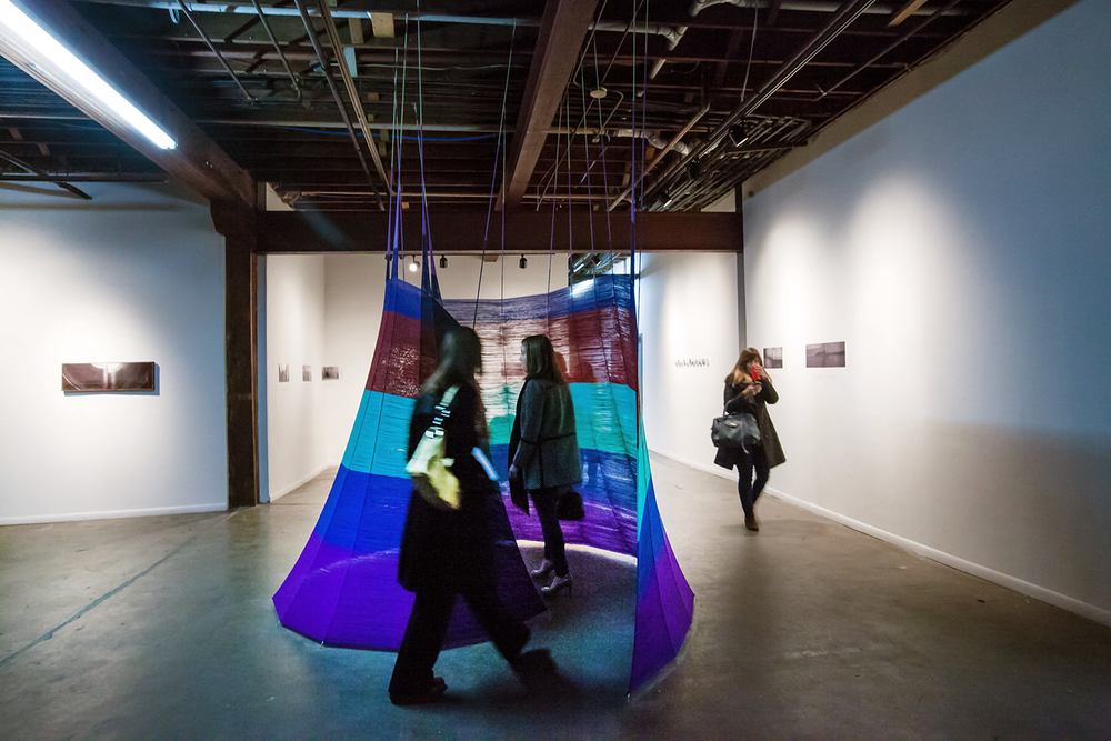 Embrace, acrylic fibers, 2015