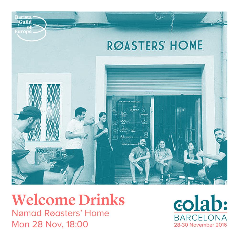 Bebidas de bienvenida en Nømad Røasters' Home