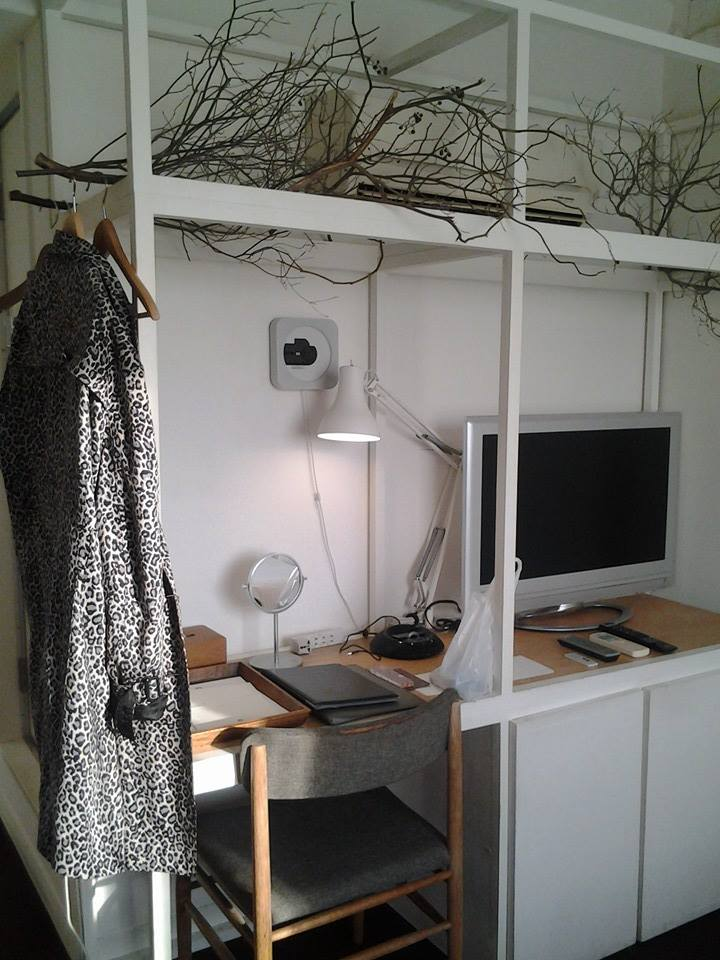 "How many times did I get my hair tangled in those branches? ""Someone's Atelier"" room at Claska."