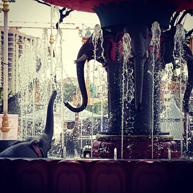 Brickfields elephant fountain.