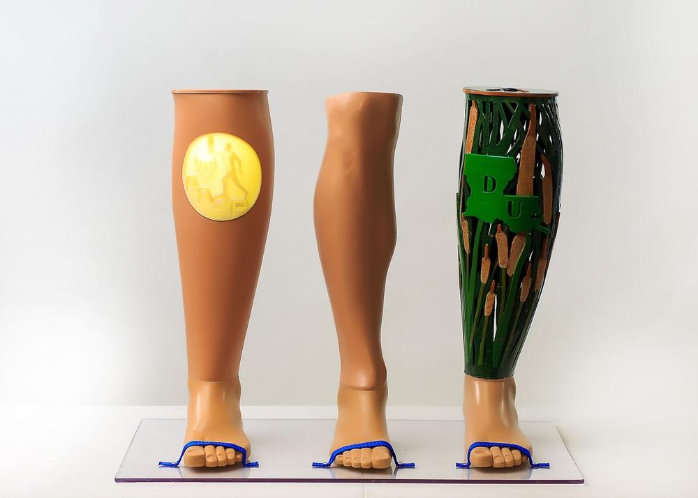 Custom 3D Printed Prosthetic Leg Covers