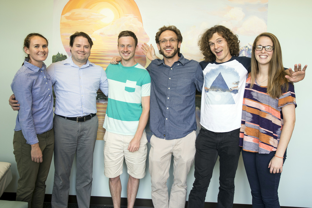Pictured third from the right is Dr. Justin Feinstein and his team of LIBR researchers