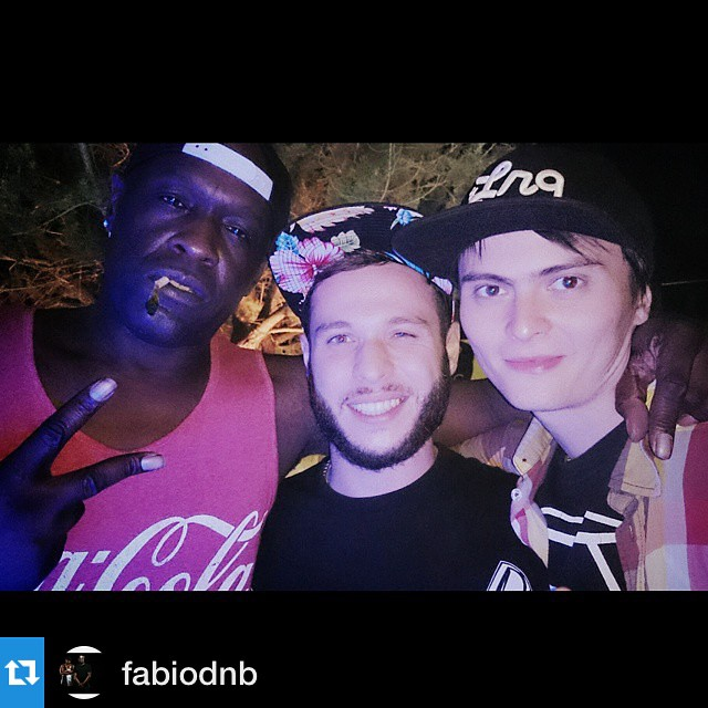 #TBT Me with my bruv and mighty Mr. Fabio at SUNANDBASS 2014
