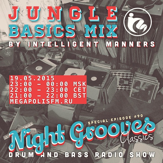 Are you ready for jubilee episode of #NightGrooves which is #90. Tonight I will play you special Jungle Basics Mix! 🌎🔊🙌🏼😊 ________________________________________Lock in online from 8-9pm GMT at www.megapolisfm.ru and follow real-time tracklisting in my Twitter www.twitter.com/mannerstweet