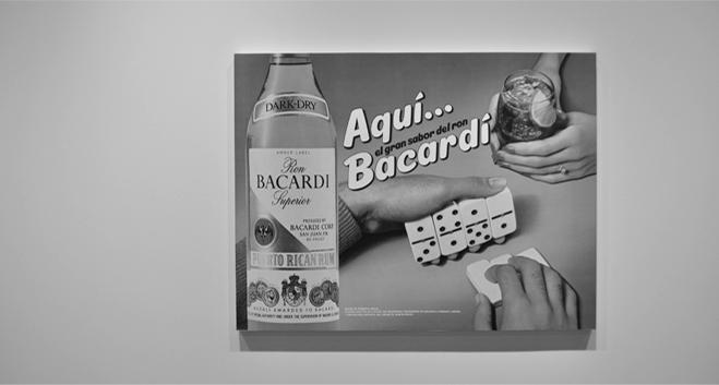 Jeff Koons,Aqui Bacardi(1986)