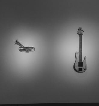 Chuck McAlexander, The Brasslab Custom-Altered Trumpet (2014) // Fodera Guitars, Matt Garrison Standard (2011)