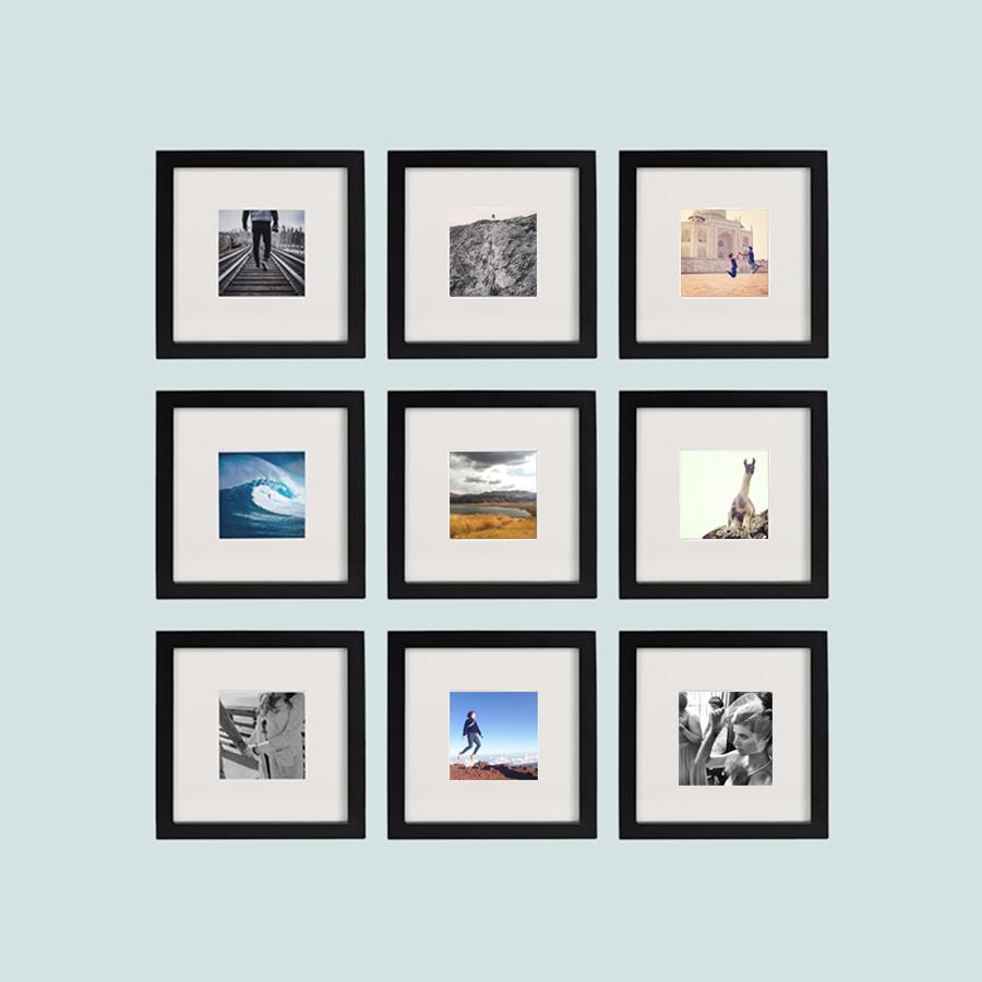 A pack of 9 frames.