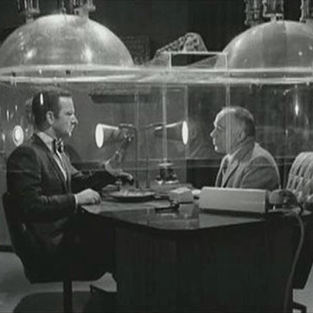 The Cone of Silence. (Get Smart, 1960s)