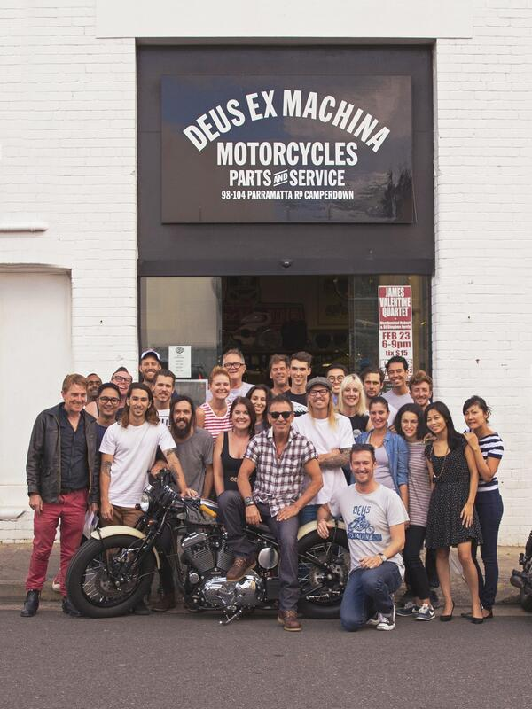 secretempires :     The Boss visits the  Deus Ex Machina Motorcycle Works Shop in Sydney, Australia.      Today.