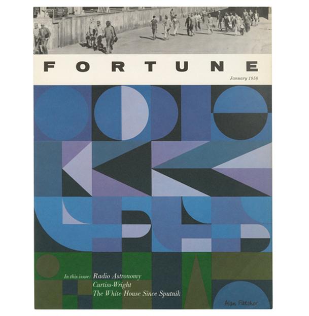 design-is-fine :     Alan Fletcher, cover design for Fortune magazine, 1958. USA.  Source       FLETCHER FOR THE WIN.