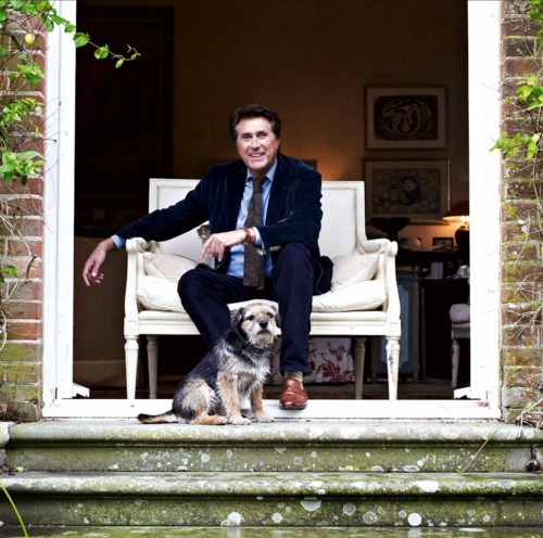 secretempires: Timeless Cool: Bryan Ferry That dog, tho. Hope it's name is Roxy.