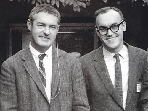 secretempires :     Timothy Leary and Baba Ram Dass as faculty at Harvard, early-60s.
