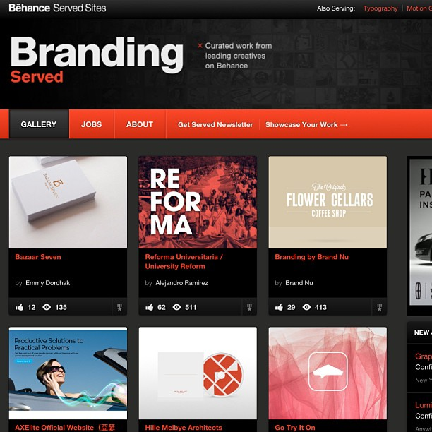 imindiemmy :     VERY proud to say that one of my projects has been featured on the homepage of Branding Served by Behance.