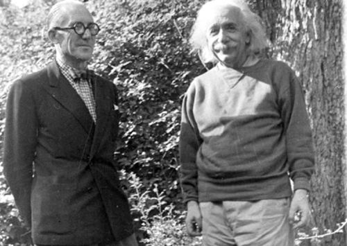 secretempires: Le Corbusier and Einstein. For real!