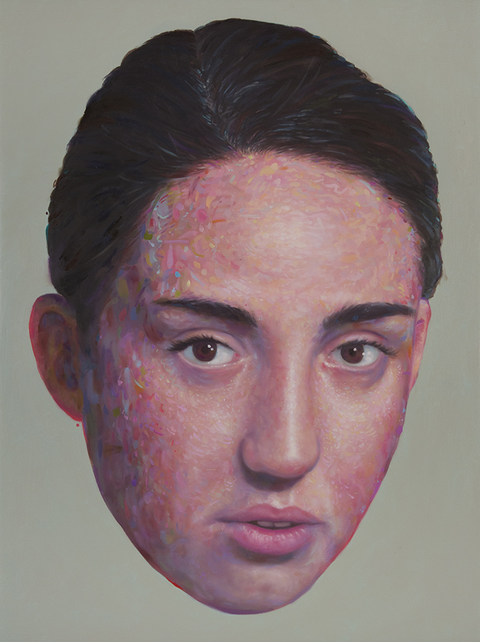 slone :      Comely ,  oil on panel,   24 x 18 in, 2013