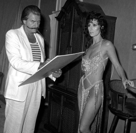 Leroy Nieman and Cher